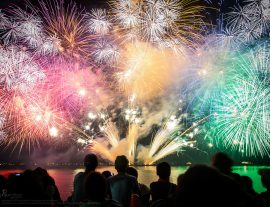 Фестиваль фейерверков в Токио